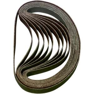 "10pc. Sanding Belt 60 Grit - 3/8"" x 13""-0"