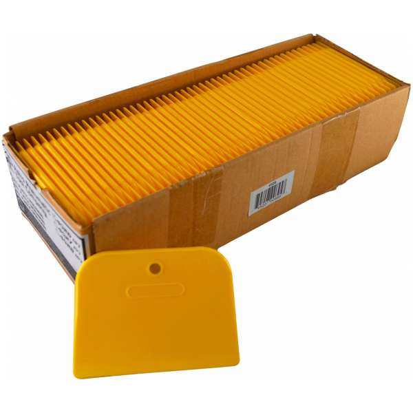 "4"" Yellow Plastic Spreaders- 100pcs./box-0"