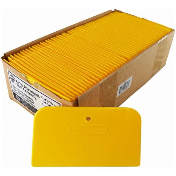 "6"" Yellow Plastic Spreaders- 100pcs./box-0"