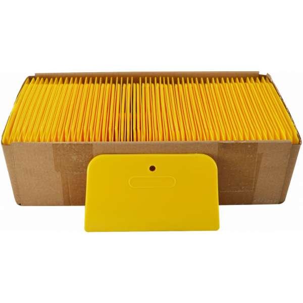 "6"" Yellow Plastic Spreaders- 100pcs./box-3956"