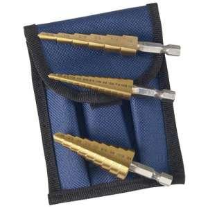 """Titanium Step Drill Bit Set (1/8"""" - 1/2"""" , 3/16"""" - 1/2"""", 1/4"""" - 3/4"""")-0"""