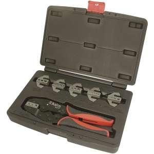 7pc Professional Quick Interchangeable Ratchet Crimping Tool Set-0