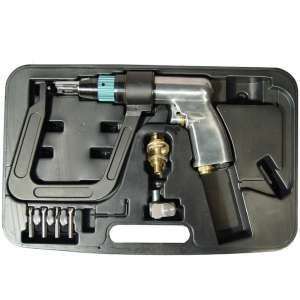 """Air Spot Drill with 5.5"""" Deep Clamp Kit and 5 Drill Bits-0"""