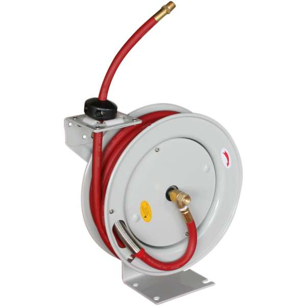 """3/8"""" x 50' Deluxe Hose Reel - Automatic Rewind with Hose-0"""