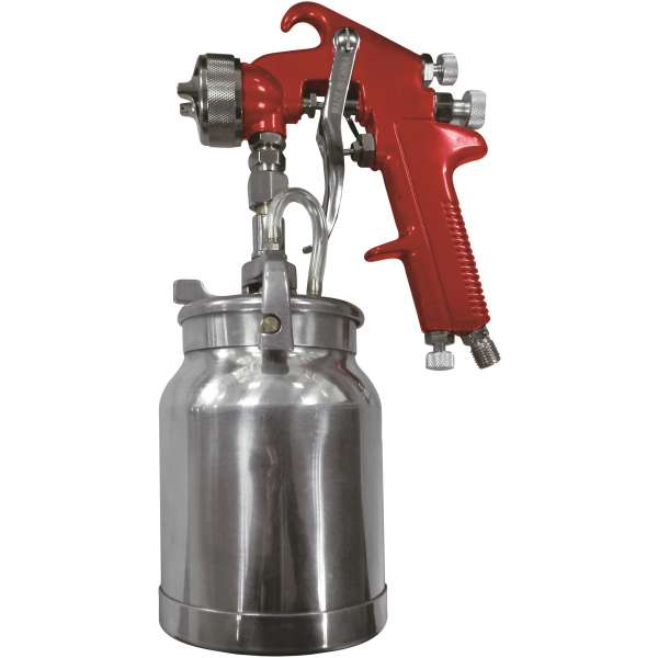 Spray Gun with Cup - Red Handle 1.8mm Nozzle-0
