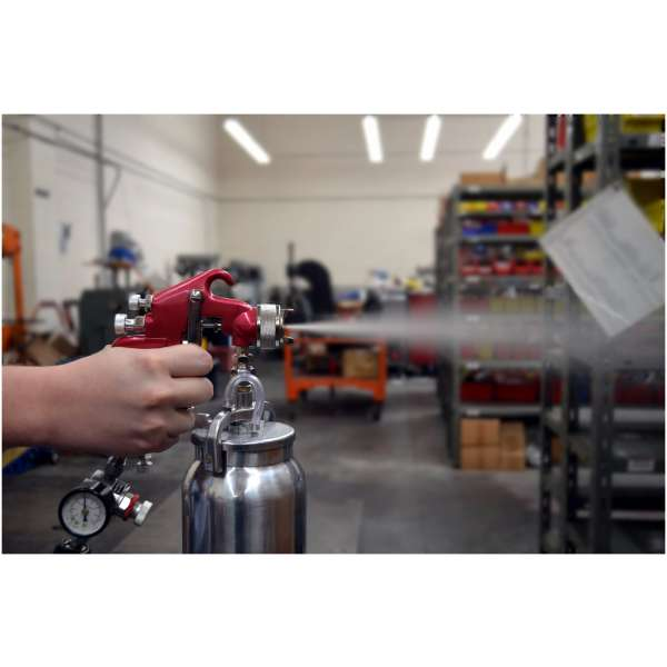 Spray Gun with Cup - Red Handle 1.8mm Nozzle-3665