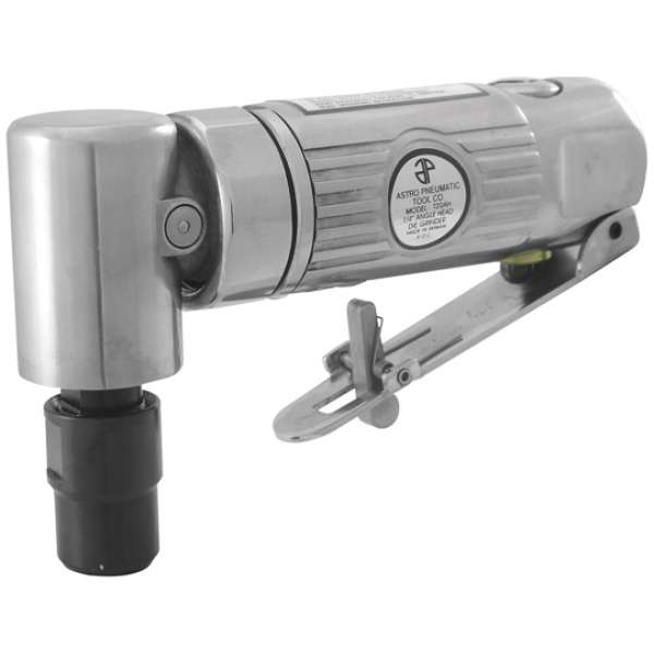 """1/4"""" 90° Angle Die Grinder with Safety Lever - Front Exhaust - 20,000rpm-0"""