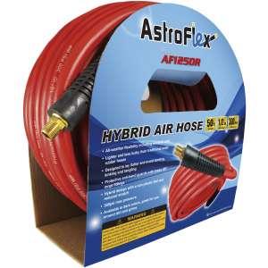 "AstroFlex 1/2"" x 50' Hybrid Air Hose - Red-0"