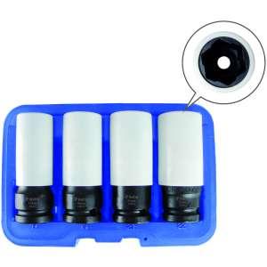 Flank Bite Damaged Lug Nut Socket Set w/ Spinning Protective Sleeves-0