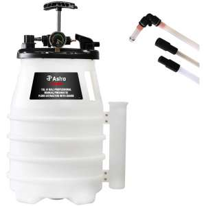 15L (4 Gal) Professional Manual/Pneumatic Fluid Extractor with Gauge-0